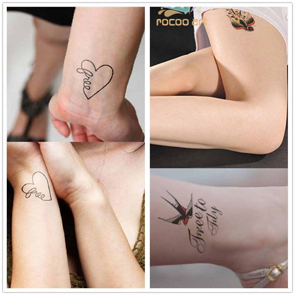Oottati 36 Hojas Pequeño Lindo Tatuaje Tatuaje Temporal Cámara ...