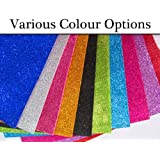 Shop Buzz Pack of 10 EVA Foam Glitter Sheets A4 Size - for Arts & Crafts, Scrapbooking, Paper Decorations (with Free Packet of SHAGUN ENVELOPES - Pack of 2 - Randomly Picked Colour)