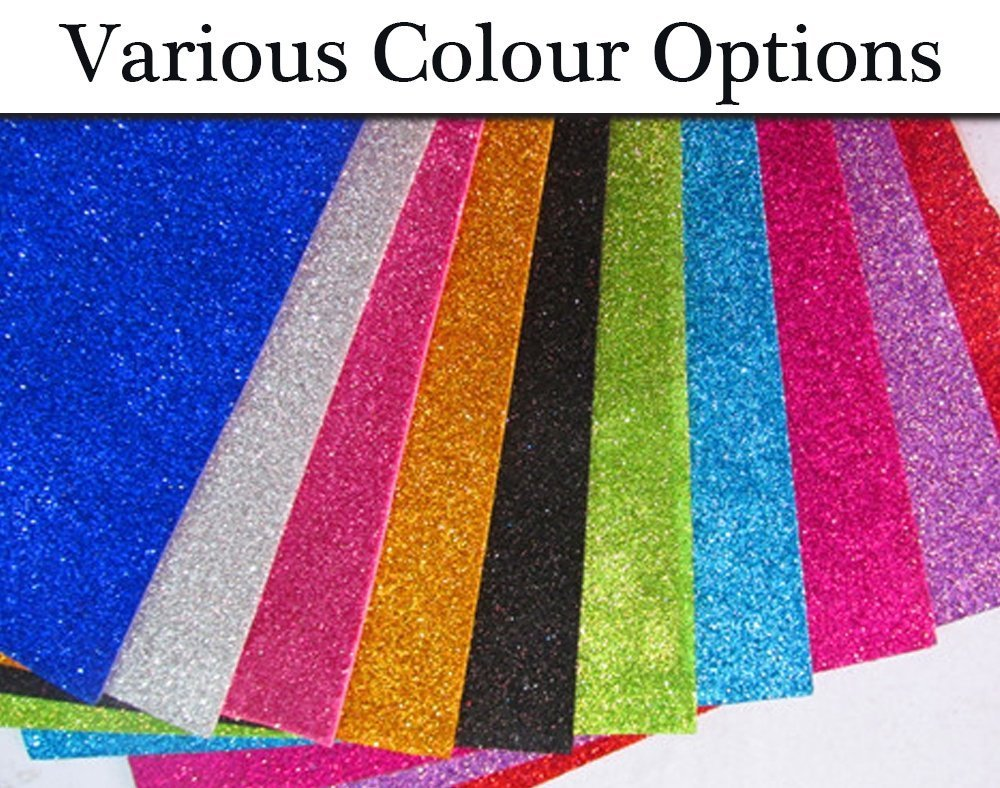Shop Buzz Pack of 10 EVA Foam Glitter Sheets A4 Size - for Arts & Crafts, Scrapbooking, Paper Decorations (with Free Packet of SHAGUN ENVELOPES - Pack of 2 - Randomly Picked Colour) product image