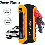 Jump Starter 600A 20000mAh Batería Arrancador de Coche, Jump Starter Portátil con Pinzas Inteligentes, USB Puertos para Emergencia Smartphones Vehículos (Hasta 4.0L de Diesel o 6.0L de Gasolina)