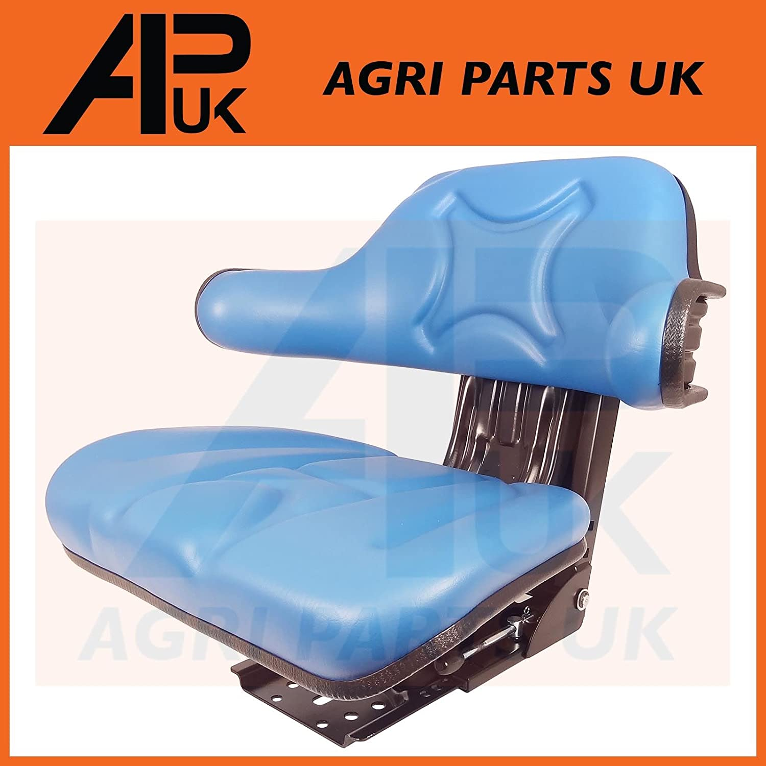 Anself Waterproof Tractor Seat with Arm Rest and Backrest