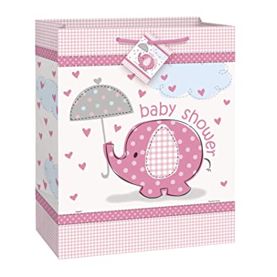 Pink Elephant Girl Baby Shower Gift Bag: Kitchen & Dining