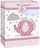 Gift Bag : Pink Elephant Girl Baby Shower Gift Bag
