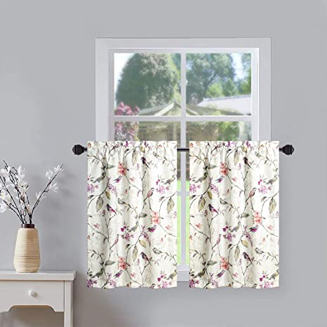 Cafe Curtains French Tiers French Bird Valance Kitchen Bird Curtains Kitchen Valance French Post Script Bird Valance