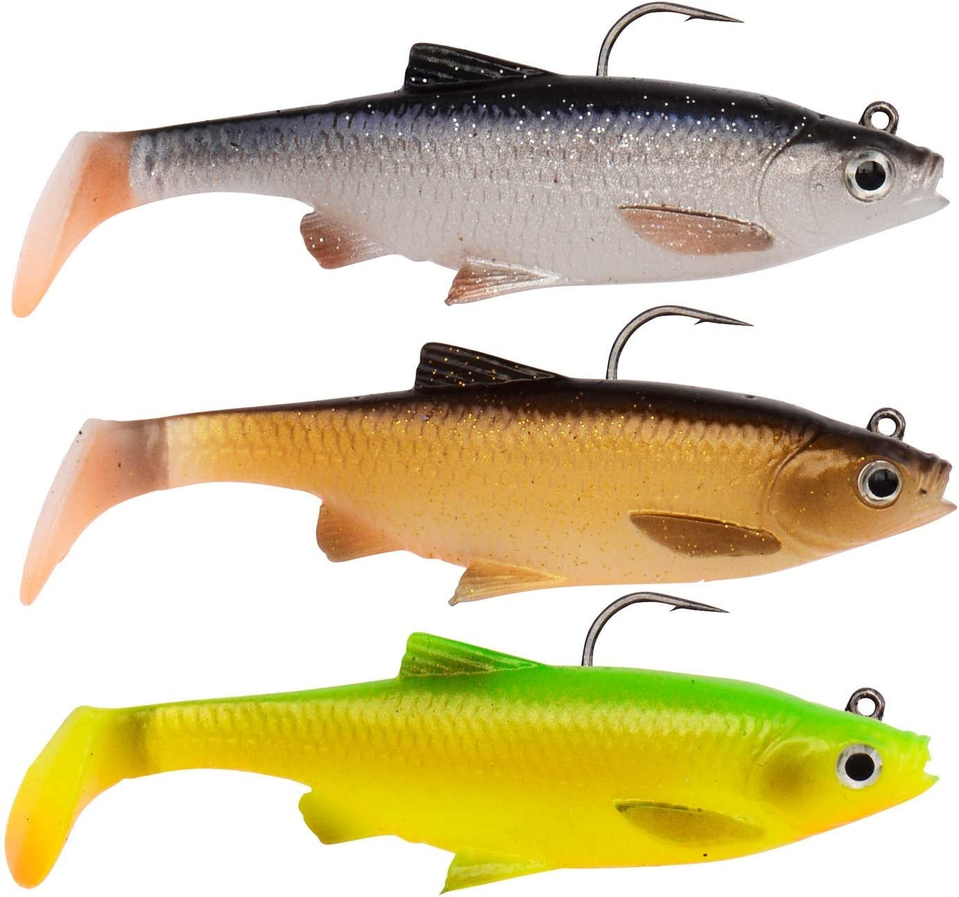 soft bait for pike fishing Savage Gear 2 rubber fish roach for spin fishing soft bait swimbait 3D river roach pike lure rubber shark
