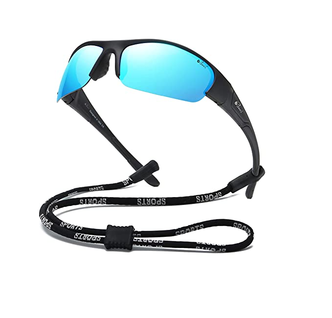 8012a4e53f Bevi Sports Sunglasses Polarized UV400 Mirror Glasses Flixable Frame for  Women Men Outdoor Exercise TR78C1