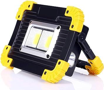 ALFLASH 1000Lumen Luz de trabajo LED portátil Recargable Reflector Impermeable Luces de inundación Aire libre Linterna para acampar, Reparación de ...