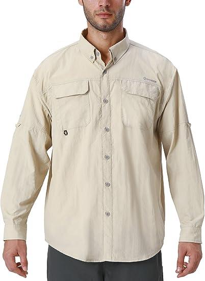 Naviskin Men's UPF 50+ Sun Protection Outdoor Long Sleeve Shirt Lightweight Quick-Dry Cooling Fishing Shirts best men's fishing shirts