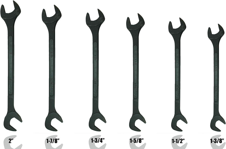 SAE 6pc Black Oxide Jumbo Angle Wrench Set