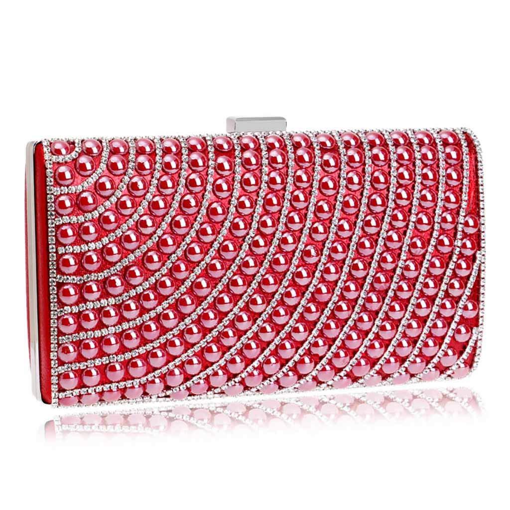 LUXISDE Women Evening Envelope Handbag Party Sparkly Clutch Purse Shoulder Cross Bag by LUXISDE (Image #4)