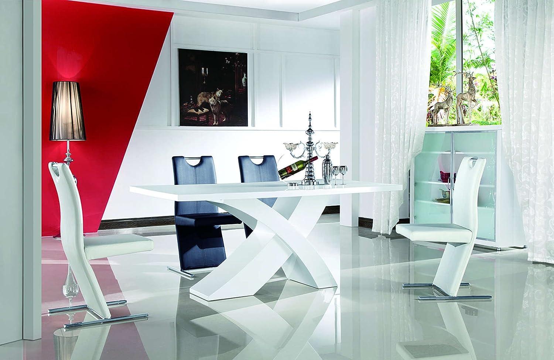 Hochglanz Wohnzimmertisch Tisch Hochglanztisch Weiss 200x90cm Esstisch Amazonde Kche Haushalt