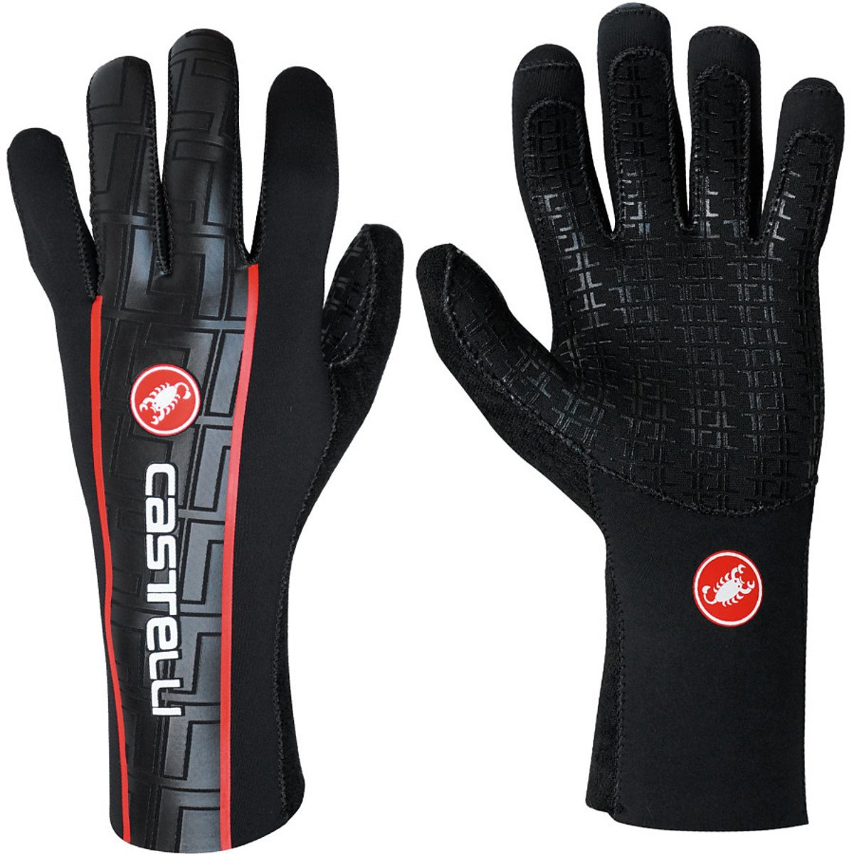 Castelli Handschuhe Diluvio Deluxe Schwarz