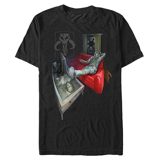 285363d1d Amazon.com: Star Wars Men's Boba Fett Lounging T-Shirt: Clothing