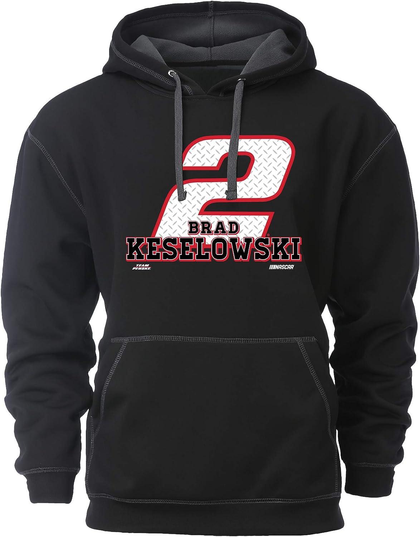 Black//Dark Grey Ouray Sportswear NASCAR Penske Racing Brad Keselowski Mens Transit HoodTransit Hood M