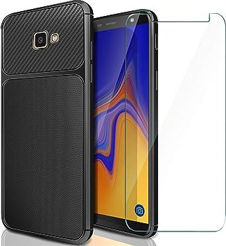 AROYI Funda Samsung J4 Plus 2018 + Cristal Templado, Carcasa Galaxy J4 Plus 2018 Protector de Pantalla Cristal Templado Soft TPU Silicone Case para Samsung Galaxy J4 Plus 2018: Amazon.es: Electrónica