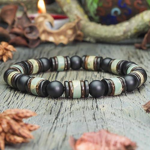 bracelet homme perles en bois