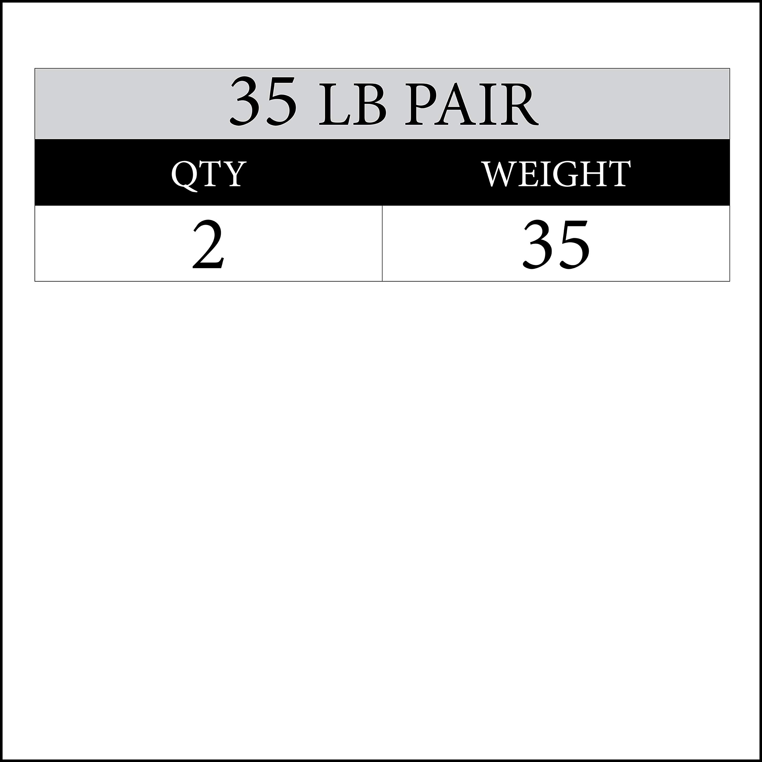 XMark 35 lb Pair Signature Plates, One-Year Warranty, Olympic Weight Plates, Cutting-Edge Design by XMark Fitness (Image #2)