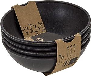 EVO Sustainable Goods 939 Bowl Set, 24 oz. , Black