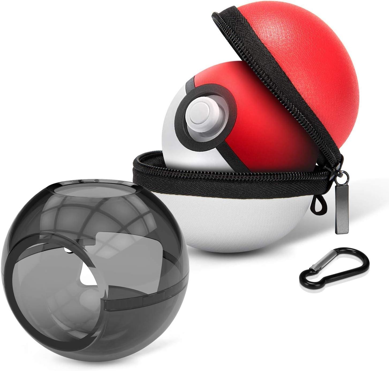 HEYSTOP Estuche de Transporte para Pokemon Poke Ball Plus, Funda Portátil de Viaje Rígido Protector para Nintendo Switch Pokémon Lets Go Pikachu Eevee Game Accesorios (2 Unidades): Amazon.es: Electrónica