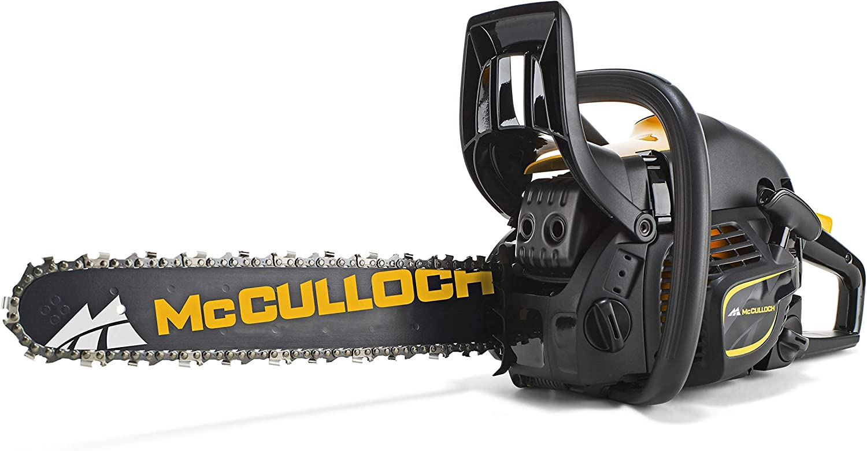 McCulloch 00096-66.317.18 CS450 Elite Motosierra de gasolina con motor de 2000 W de potencia, longitud de espada de 45 cm, doble freno de cadena