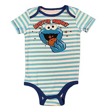a127fd46a Sesame Street Baby Boys Cookie Monster One Piece Snap Bodysuit (0-3 Months)