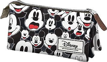 Mickey Mouse- Disney Classic Mickey Estuche portatodo Triple, Color Negro, 24 cm (Karactermanía 33605): Amazon.es: Juguetes y juegos
