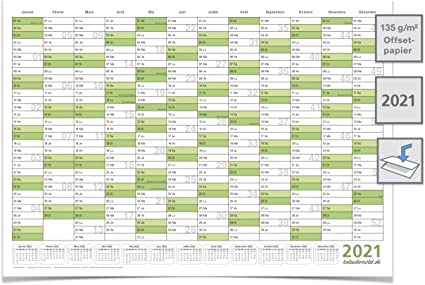 Grand Calendrier 2021 XXL Calendrier mural/Planificateur annuel 2021 – Format DIN A0