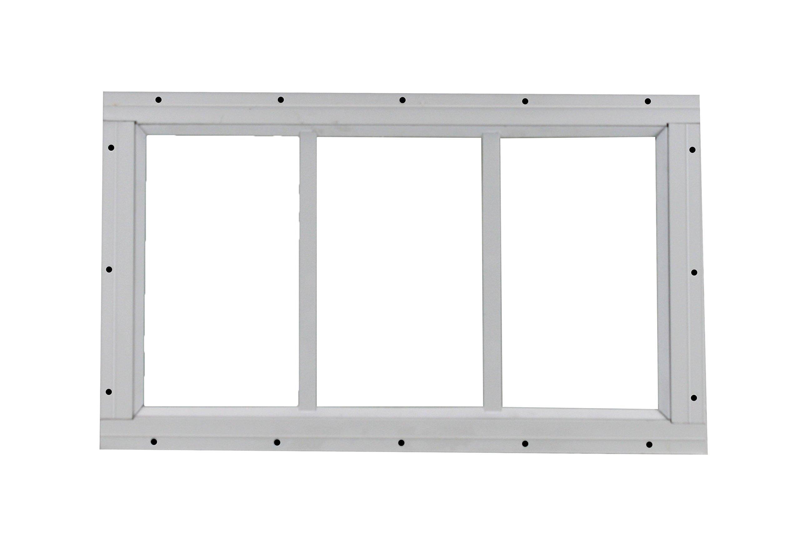 Shed Transom Window 10'' X 18'' White Flush Mount