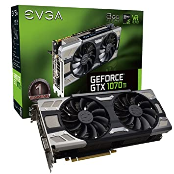 EVGA GeForce GTX 1070 Ti FTW ULTRA SILENT GAMING, 8GB GDDR5, ACX 3 0 & RGB  LED Graphics Card 08G-P4-6678-KR