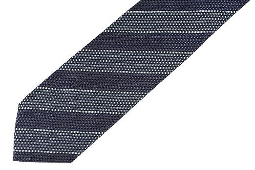 Tom Ford - Cravate - À Rayures - Homme Bleu noir foncé  Amazon.fr   Vêtements et accessoires 57094b07171