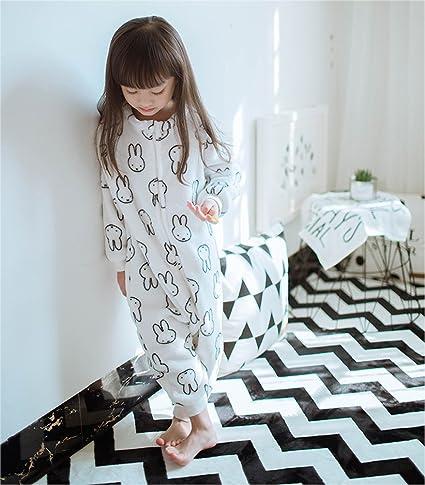 deardo Unisex Pijamas de Franela para bebé dormir para dormir Coat (conejos Cartoon bebé mono