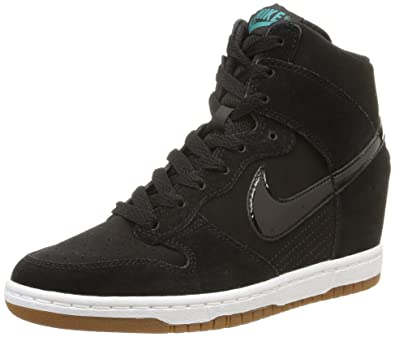 Nike Womens Dunk Sky Hi Essential BlackBlackSailGum Med Brown Casual
