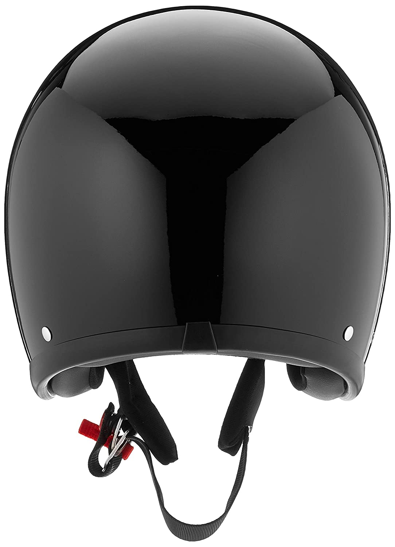 L Helmschale aus Glasfaser Solid Black DMD Gr/ö/ße