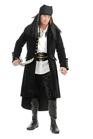 f1ce99da7 Mens XS Teen 34-36 Treasure Island Black Pirate Duster Jacket Trench Coat
