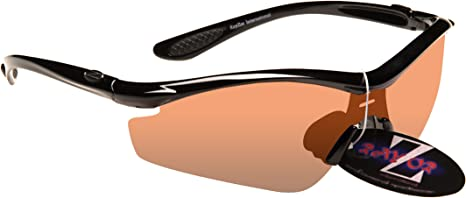 Rayzor Lightweight Archery Sports Wrap Sunglasses Anti Glare Professional Glasses for Men and Women UV400 Eye Protection with Shatterproof Frames and Cat 3 Anti Glare Lenses