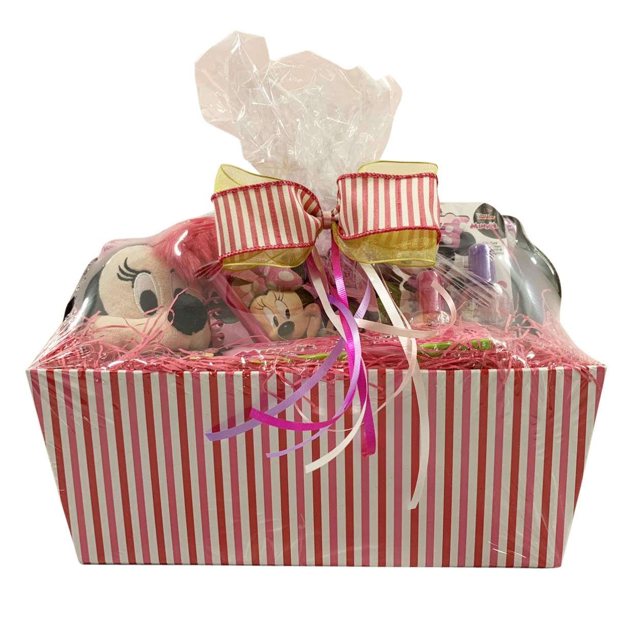 Gift Basket For Kids Minnie Mouse Themed 10 items in 1 Get Well, Birthday Basket with Novelties, Jewelry, Watch, Hair Accessories, Fun & Games by SKash26ani (Image #2)
