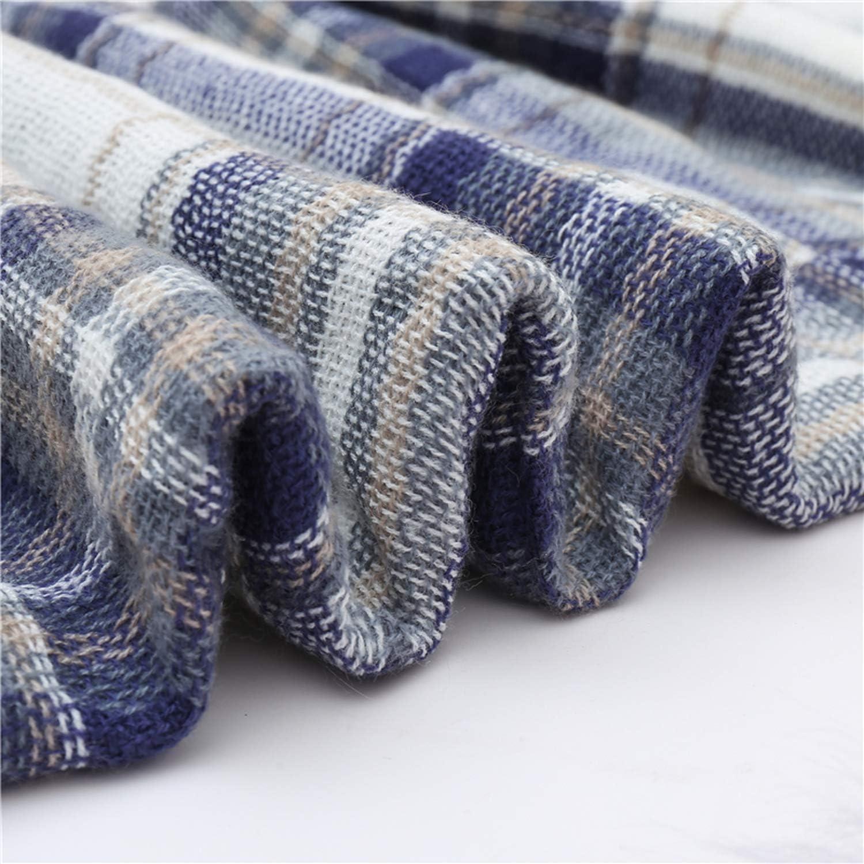 Women Cashmere Scarves Knit Warm Shawls Wraps Plaid Big Square Blanket Scarves,Fb-27