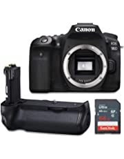 $1199 » Canon EOS 90D Wi-Fi 4K UHD Digital SLR Camera Body Kit with Power Battery Grip & 64GB Memory Card