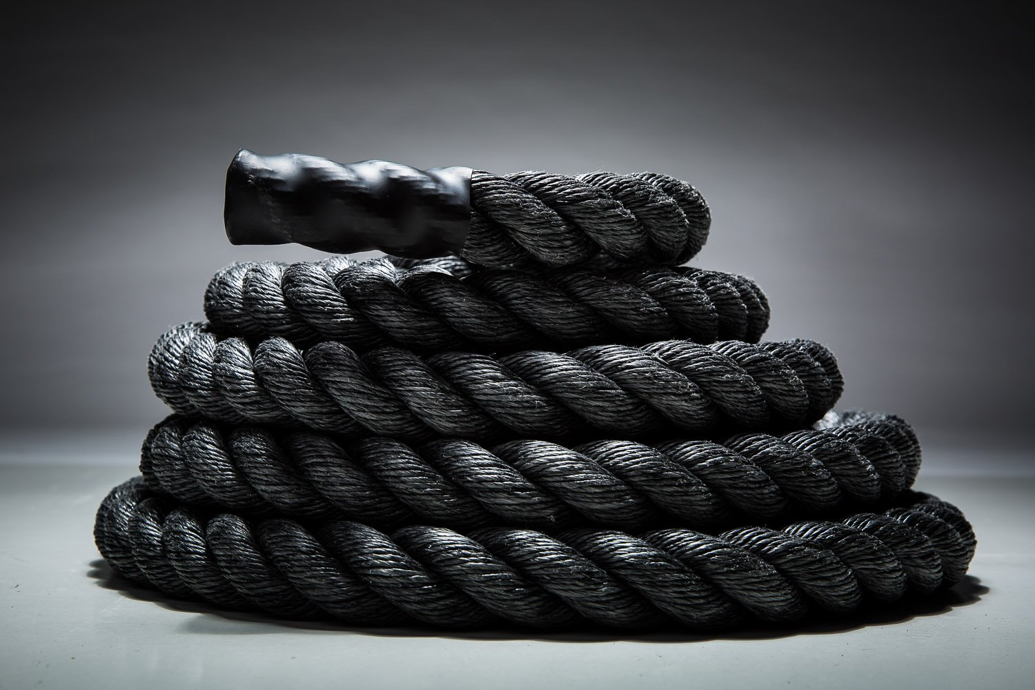 Fitness Solutions Black Polydac Rope