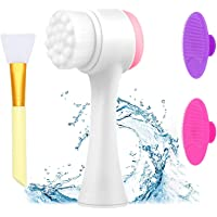 4 in 1 gezichtsreinigingsborstel, siliconen gezichtsmasker borstel siliconen gezicht scrubber voor anti-veroudering huid…