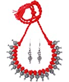 BALLERINA'S Antique Oxidized Thread Jewelry Necklace Earing Set (BsAOTJNES10101IN)