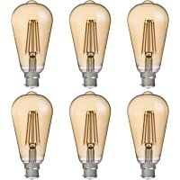 FLSNT ST64 LED Vintage Edison Bulbs 40 Watts Equivalent,B22 Base 4.5W LED Filament Light Bulbs,2700K Soft White,330LM…