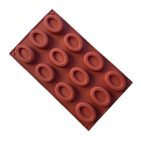 MKNzone 1 moldes de silicona DIY, tartas, chocolate - Mini donuts ovales(29.7
