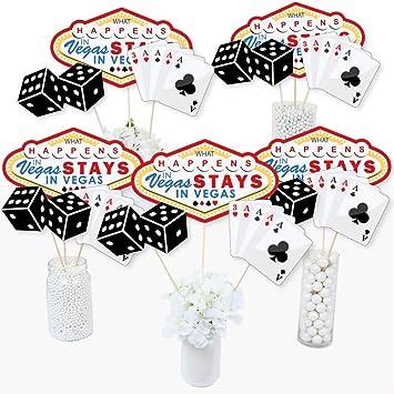 Big Dot of Happiness Las Vegas – Varillas de Centro de Mesa para Fiesta de Casino – Juego de 15: Amazon.es: Juguetes y juegos