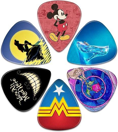 Surmoler - Juego de 6 púas para guitarra acústica y eléctrica, diseño de Mickey y la Sirenita de Disney: Amazon.es: Instrumentos musicales
