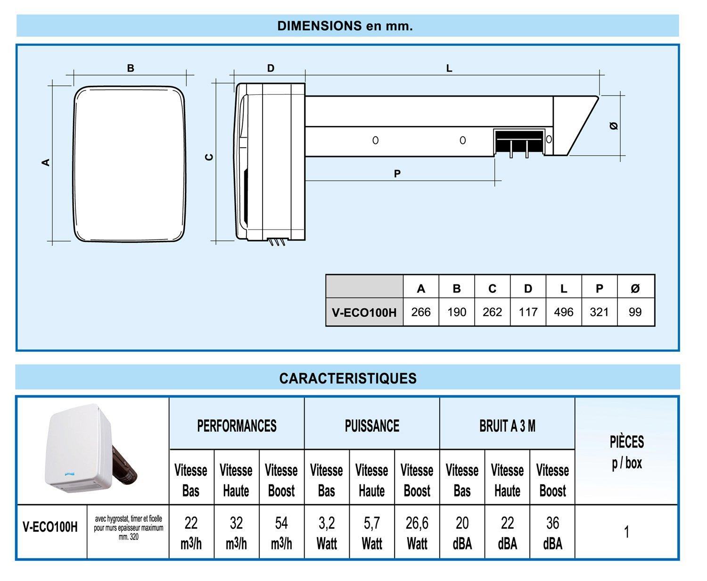 First Plast-Extractor de aire VMC, de doble caudal individual ...