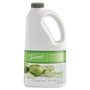 Torani Real Fruit Smoothie Mixes, Green Apple, 64 Ounce