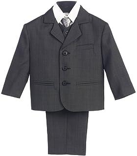 Boys Suit Formal Light Gray Toddler Kids Graduation Wedding Vest Suit Size 14 20