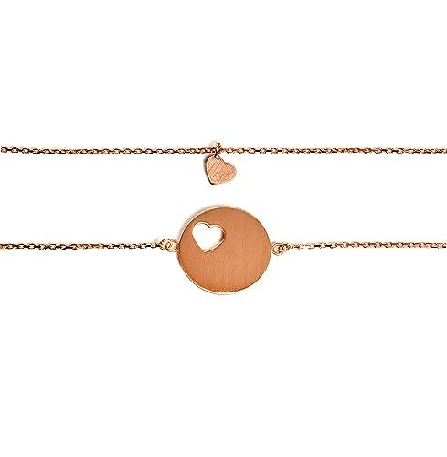 Beka & Bell Carry Mutter & Tochter Armband SET 1 für 1 Tochter ROSE vergoldet