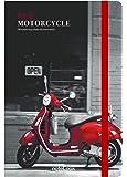 Scrikss Not Defteri, Çizgisiz, A5, 100 Yaprak, Red Motorcycle